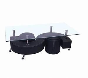 Table Basse Noir : table basse alpha noir tables basses but ~ Teatrodelosmanantiales.com Idées de Décoration