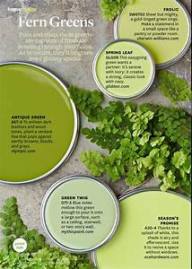 Paint Palette - Fern Greens - Interiors By Color