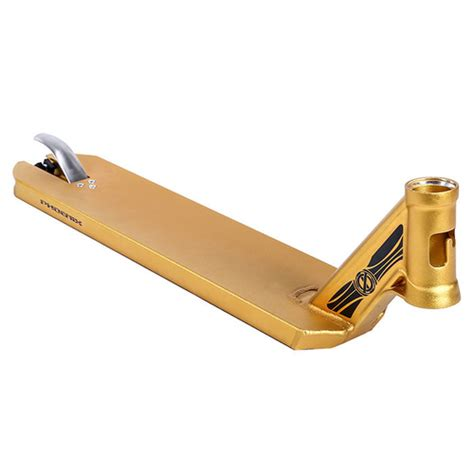 """Phoenix Ion Scooter Deck 5"""" Gold Anodised"""