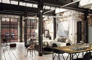 Interieur Style Industriel : le style industriel comment le cr er ~ Melissatoandfro.com Idées de Décoration