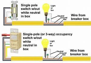 Lutron Single Pole Occupancy Sensor Wiring Diagram