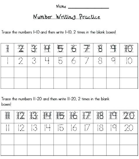 printable writing numbers to 20 number practice worksheet