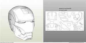 papercraft pdo file template for iron man mark 4 6 With iron man foam armor templates
