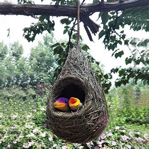 nest birdssetsets artificial straw hanging birds