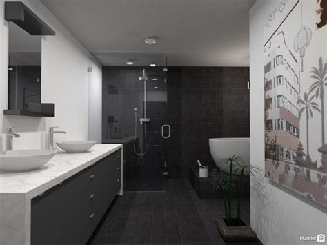 bathroom planning ideas black and white l shaped bathroom house ideas planner 5d