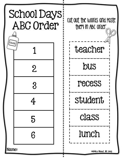 12 best images of alphabetical order worksheets 1st grade