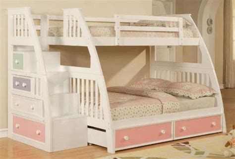 bunk bed plans twin  full  stairs plans diy