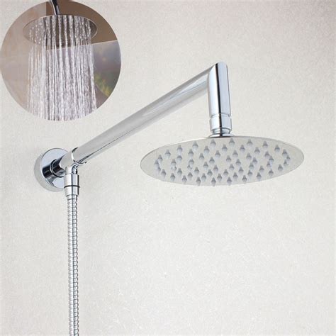 Extended Shower Arm - 6 inch rainfall shower extension with shower