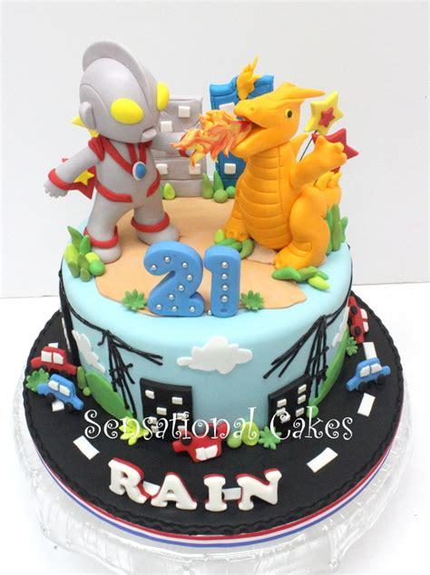 sensational cakes ultraman  cake singapore