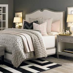 Grey walls cream headboard bassett need bedroom