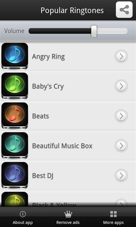 android ringtone app popular ringtones app free app android freeware