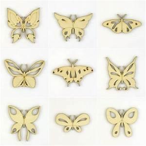 Decoupe Bois En Ligne : loisirs cr atifs 9 papillons en bois d coup et ajour ~ Dailycaller-alerts.com Idées de Décoration