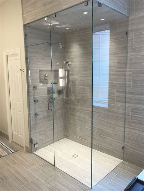 beautiful frameless  starphire glass shower enclosure