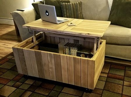 home dzine home diy reclaimed pallet coffee table