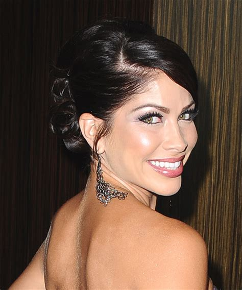 valerie ortiz long straight formal updo hairstyle