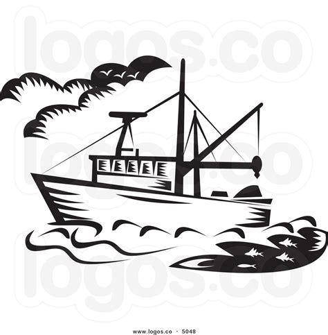 Fishing Boat Clipart Black And White by Fishing Boat Black And White Clipart