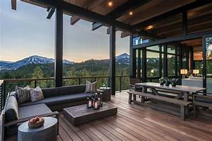 Mountain, Modern, Home, Hovers, Above, The, Montana, Wilderness