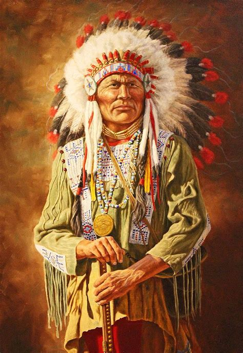 Indian Chief Picture by A American Chief Jigsaw Puzzle In Puzzles On