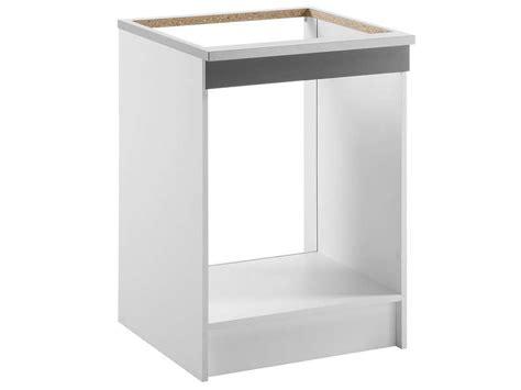 meuble cuisine four et plaque meuble bas 60 cm four plaque spoon shiny anthracite