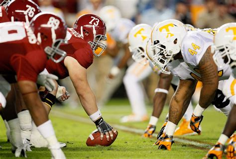 alabama  tennessee  saturday  october rivalry