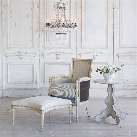 Eloquence French Country Style Antique Accent Bergere And