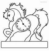 Clock Coloring Uhr Printable Cool2bkids Einhorn Ausmalbild Ausmalbilder sketch template