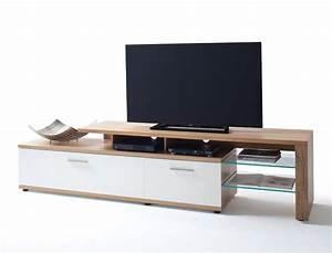 Lowboard Weiß Eiche : lowboard nina 8 wei crack eiche 238x56x50 cm tv m bel tv schrank kaufen bei vbbv gmbh co kg ~ Eleganceandgraceweddings.com Haus und Dekorationen