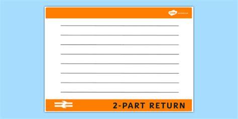 Blank Train Ticket Template  Train Ticket, Template, Writing