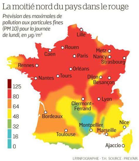 Carte Pollution Europe by Environnement En Plus Du Froid La Pollution Le Parisien
