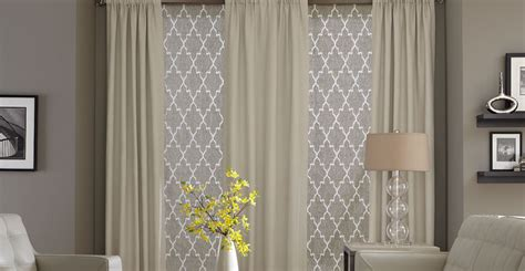 shades with drapery panels from 3 day blinds