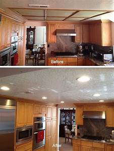 Installing recessed lighting in a kitchen : Kitchen soffit lighting with recessed lights