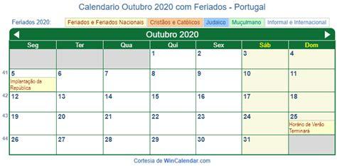 calendario outubro   imprimir portugal
