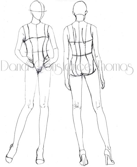 Fashion Templates Front And Back by Croqui Front And Back Www Pixshark Images