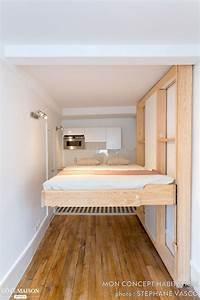 Lit Gain De Place : 25 best ideas about lit escamotable plafond on pinterest ~ Premium-room.com Idées de Décoration