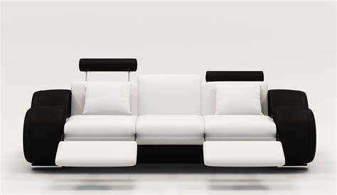 canape cuir relax noir et blanc canapé idées de