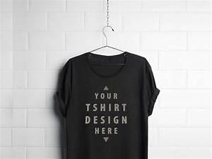 black t shirt mockup psd With clothing mockup psd