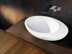 vasques douches baignoires sanitaire orange clementine With salle de bain design avec vasque à poser originale