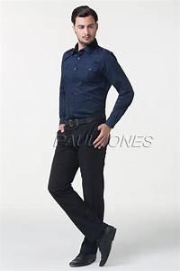 2018 New Arrive Menu0026#39;S Fashion Designer Navy Blue Stylish Slim Fit Long Sleeve Dress Shirts ...