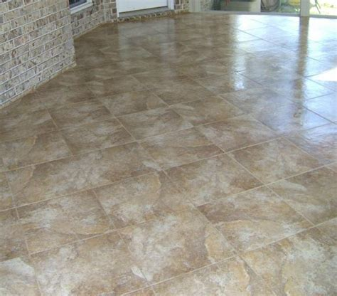 why is decorative concrete better than ceramic tile for