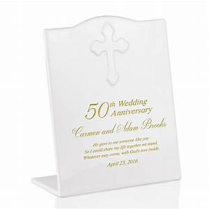 Personalized 50th anniversary ceramic keepsake plaque for Personalized gifts for wedding