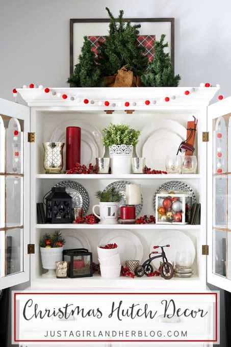 christmas hutch decor christmas christmas decorations
