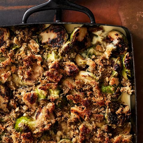 thanksgiving brussels sprouts casserole  stuffing