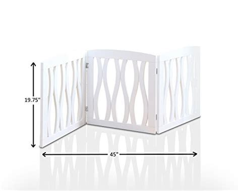 Wooden Pet Gate, Foldable and Freestanding, For Indoor
