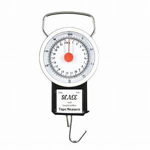 Portable Spring Balance Hanging Scale With Measuring Tape
