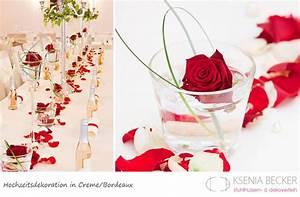 Tischdeko Hochzeit Rot : bordeaux rot hochzeitsdekoration tischdekoration mit rosen hochzeit rot wei pinterest ~ Yasmunasinghe.com Haus und Dekorationen