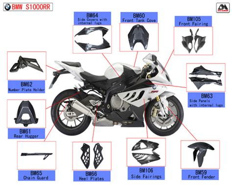 China Carbon Fiber Motorcycle Parts For Bmw S1000rr