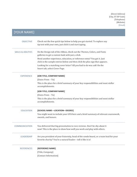 basic resume timeless design work sample resume