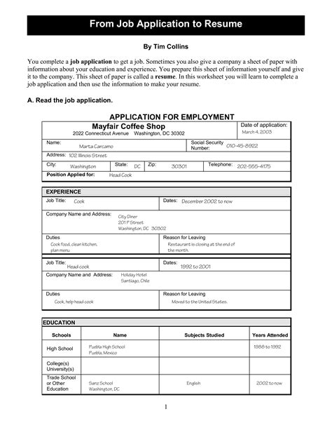 Free Resume Application by Printable Application Resume Templates At