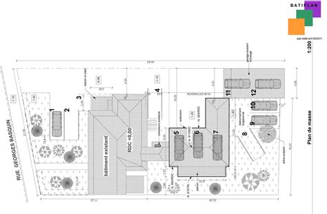 plans  permis de construire exemple dun plan de masse