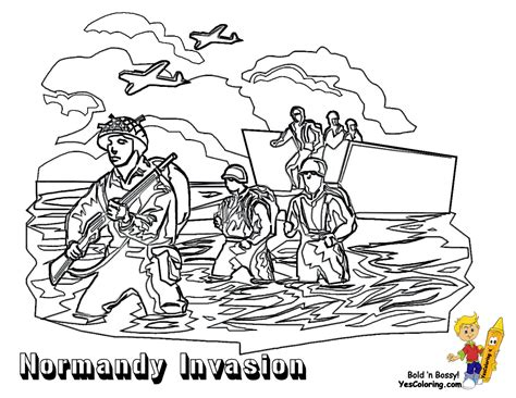 Historic Army Coloring Page Military Picture